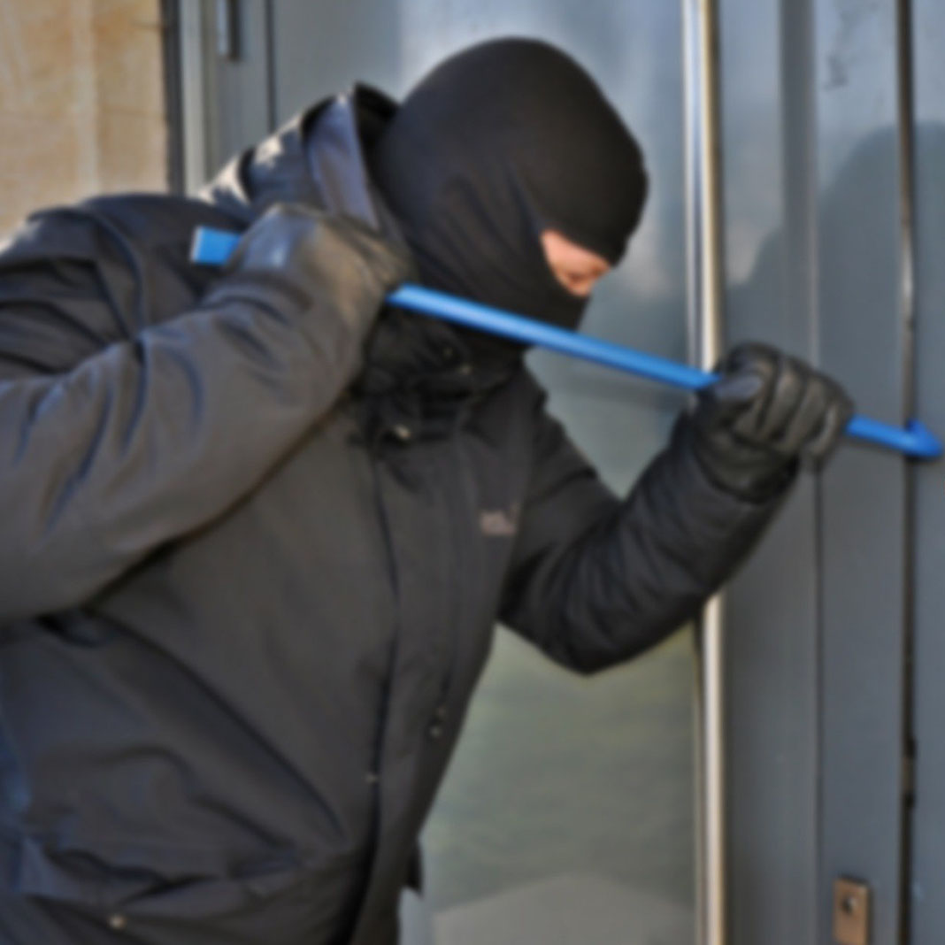 image shows a burglar and advertise bloxwich truck and container security products